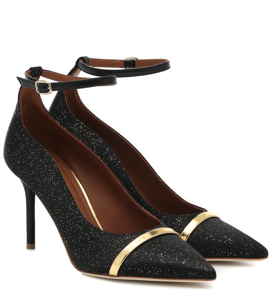 Malone Souliers Exclusive to Mytheresa – Molly glittered satin pumps in black