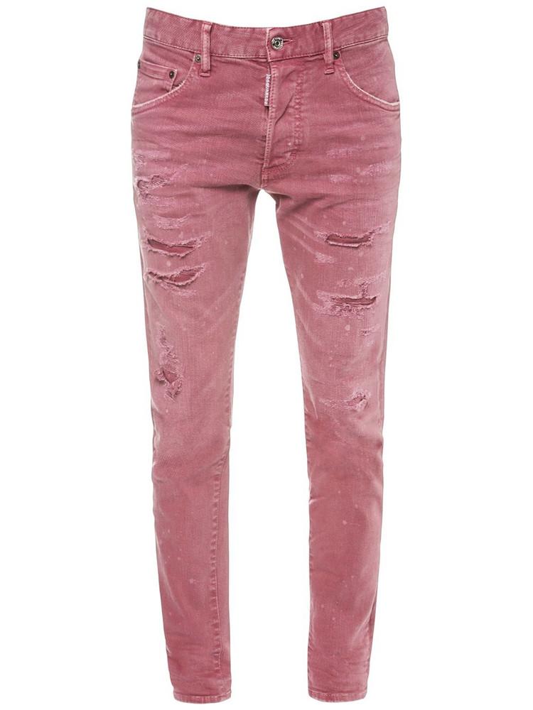 DSQUARED2 Dan Stretch Cotton Denim Jeans in pink
