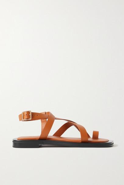 A EMERY - + Matteau Spargi Leather Sandals - Brown