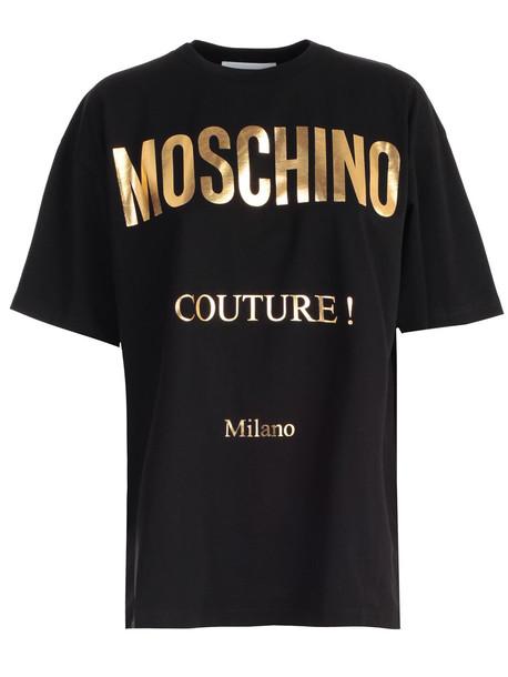 Moschino T-shirt S/s W/logo in black / print