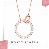 jewels,diamonds,gold,jewelry,minimalist,round pendant,forever,chain necklace,rose gold,womens jewelry,boho