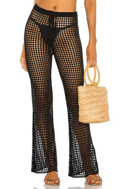 superdown Elektra Crochet Pant in black
