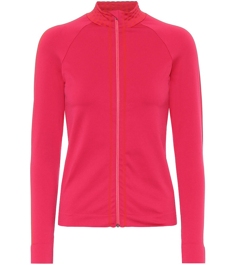 Ernest Leoty Apolline technical-jersey jacket in pink