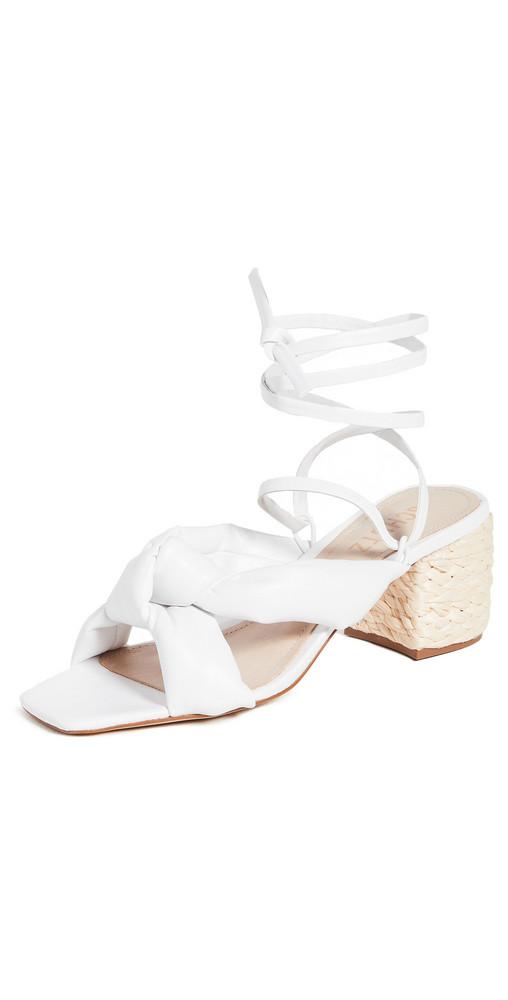 Schutz Lewis Block Heel Sandals in white