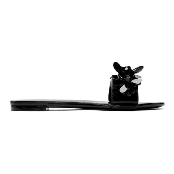 Simone Rocha Black Jelly Slides