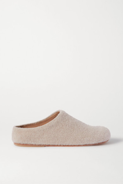 Lauren Manoogian - Mono Alpaca-blend Slippers - Beige