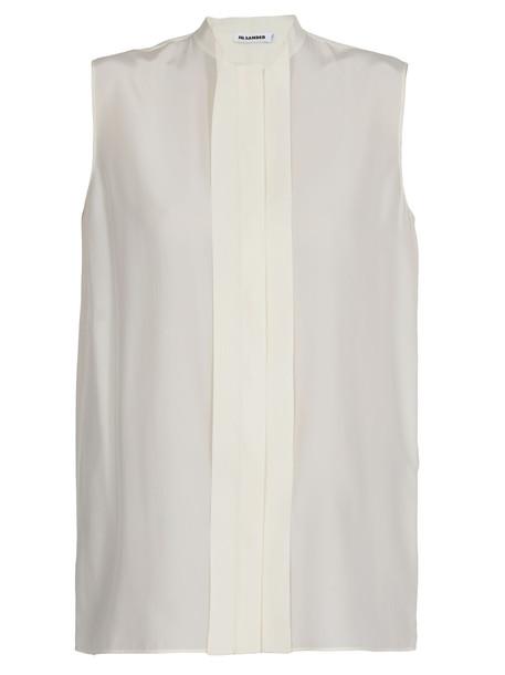 Jil Sander Silk Shirt in natural