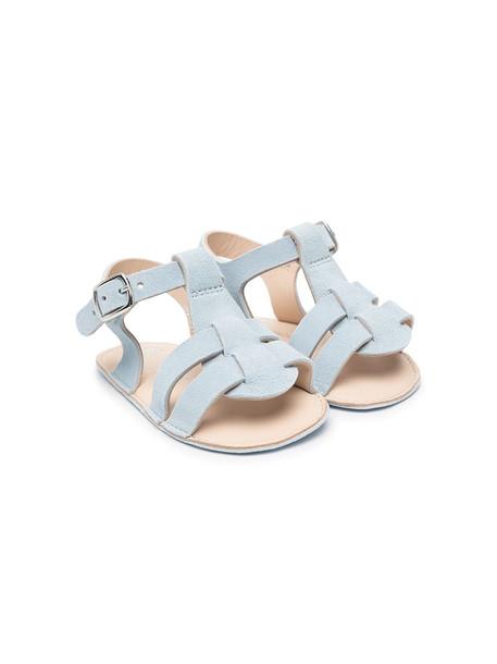 Bonpoint gladiator leather sandals - Blue