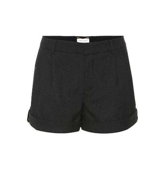 Saint Laurent Virgin wool shorts in black