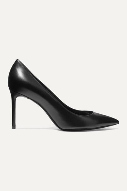 SAINT LAURENT - Anja Leather Pumps - Black