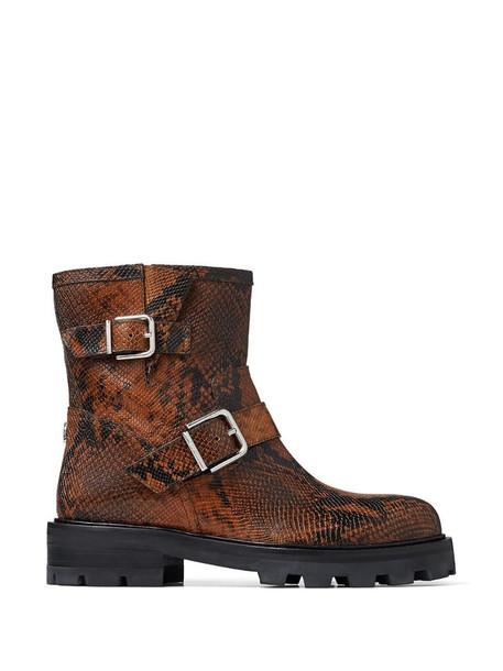 Jimmy Choo snakeskin-effect Youth II boots in brown