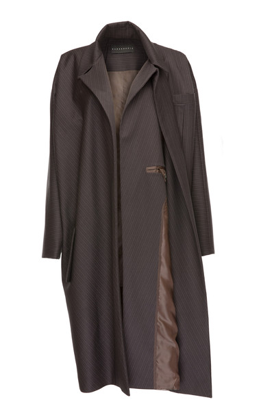 Babukhadia Dual Sided Trench Coat in grey