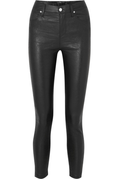 RtA - Madrid Cropped Stretch-leather Skinny Pants - Black