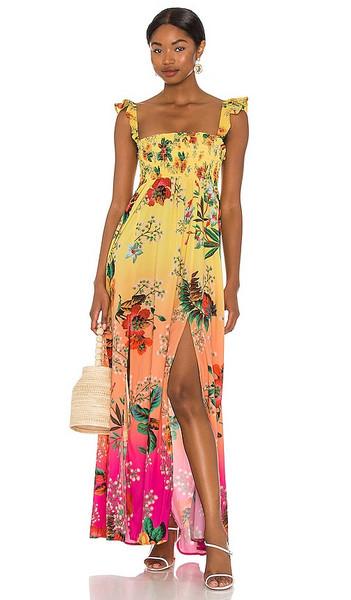 Agua Bendita x REVOLVE Leo Dress in Yellow in pink