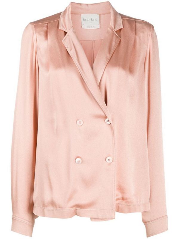 Forte Forte double-breasted blouse in pink