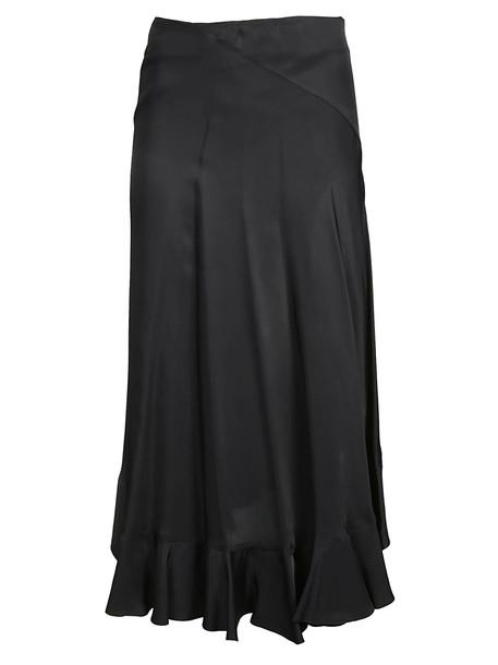 Kenzo Pleated Midi Skirt in noir
