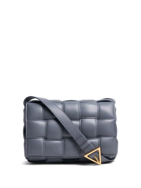 Bottega Veneta - Cassette Intrecciato-leather Cross-body Bag - Womens - Grey
