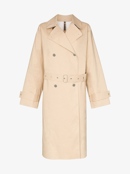 Jil Sander Double breasted trench coat in neutrals