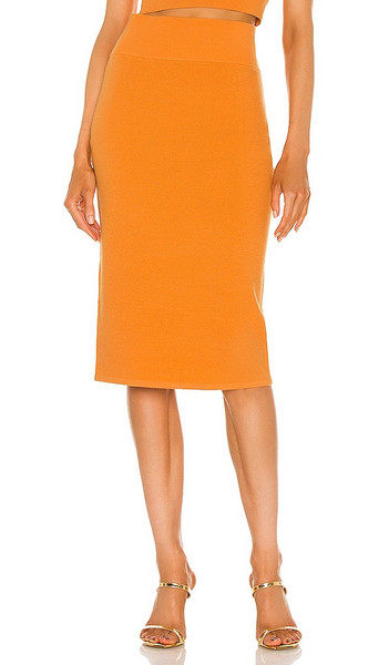 Victor Glemaud Core Pull On Skirt in Orange in peach
