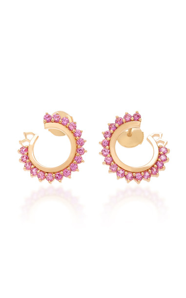 Nouvel Heritage 18K Rose Gold Pink Sapphire Earrings