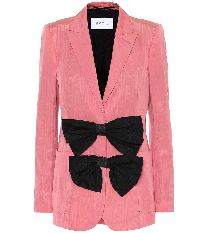 Racil Henry cotton-blend moire blazer in pink