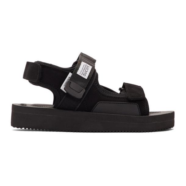 Suicoke Black WAS V Sandals