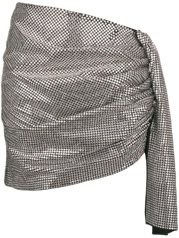 Magda Butrym gathered asymmetric skirt in metallic
