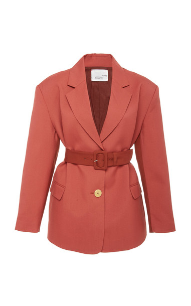 Bouguessa Two-Tone Fitted Blazer Size: XS in brown