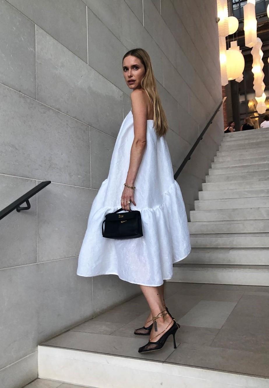 dress look de pernille pernille teisbaek blogger midi dress white white dress
