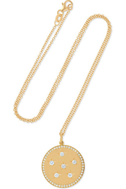 Andrea Fohrman - New/ Full Moon 18-karat Gold Diamond Necklace