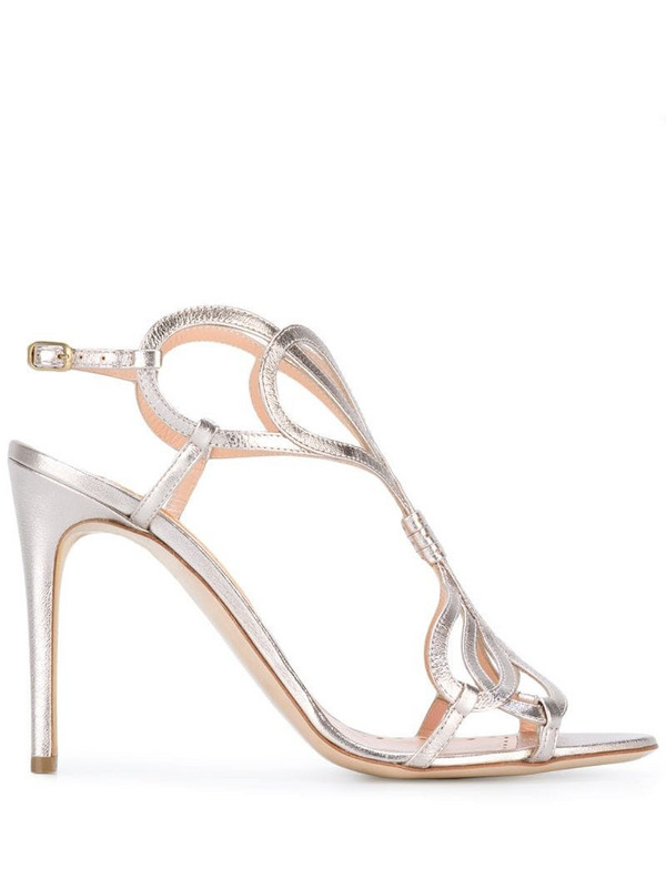 Rupert Sanderson metallic sandals