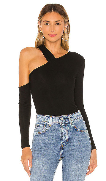 Privacy Please Rolland Top in Black