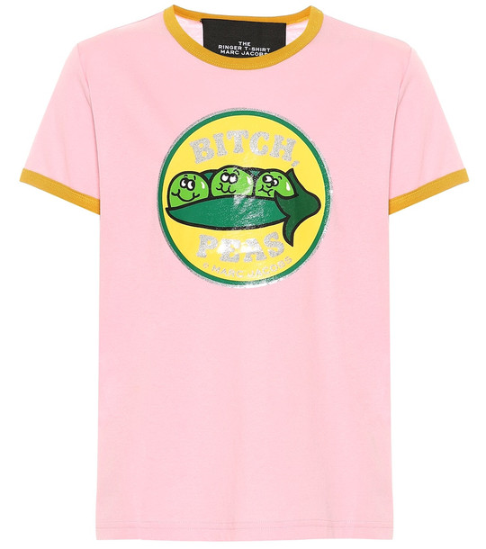 Marc Jacobs The Ringer cotton-jersey T-shirt in pink