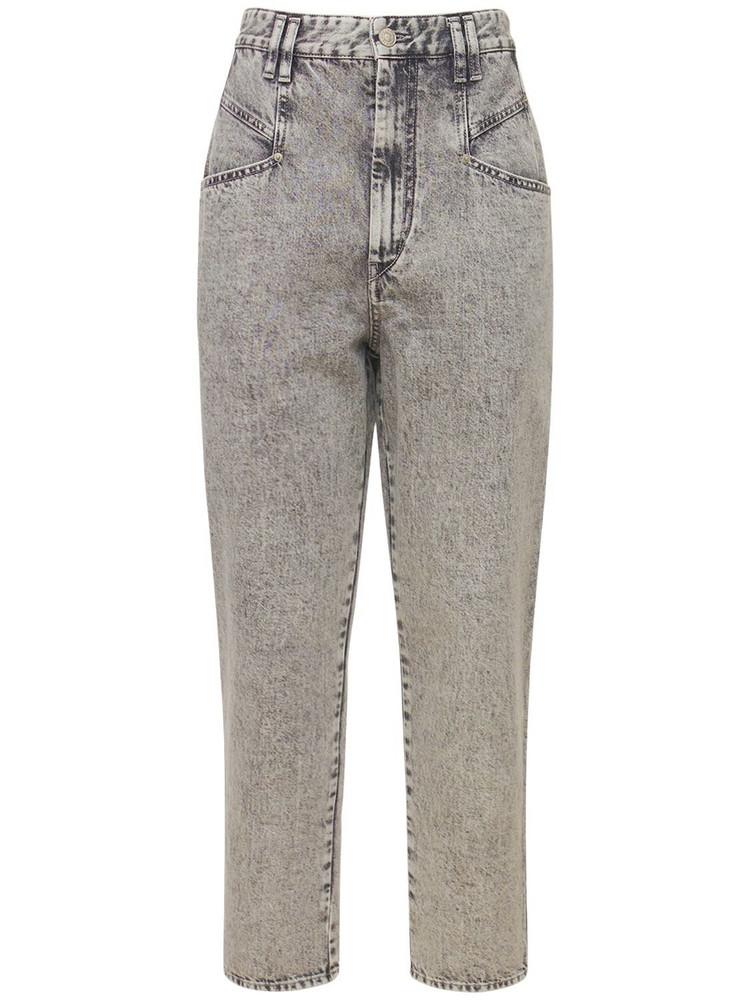 ISABEL MARANT Dipadela Straight Cotton Denim Jeans in grey