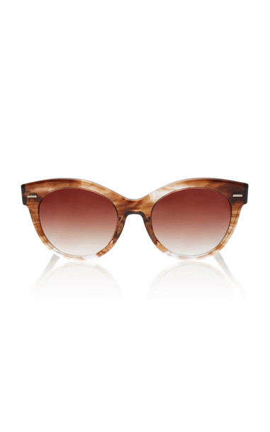 Oliver Peoples THE ROW Georgica Oversized Cat-Eye Sunglasses in brown