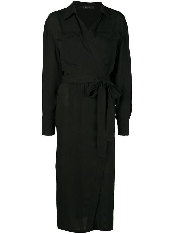 Derek Lam wrap-front dress in black