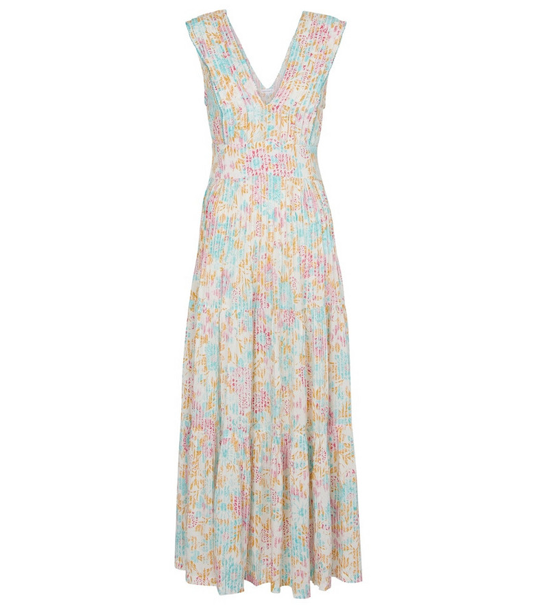 Poupette St Barth Exclusive to Mytheresa – Faye floral pleated midi dress