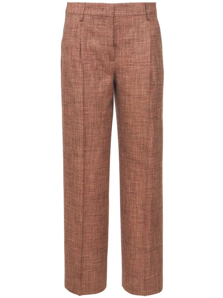 LARDINI Fenice Silk Blend Pants in brown