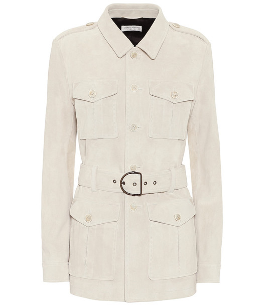 Saint Laurent Suede safari jacket in beige