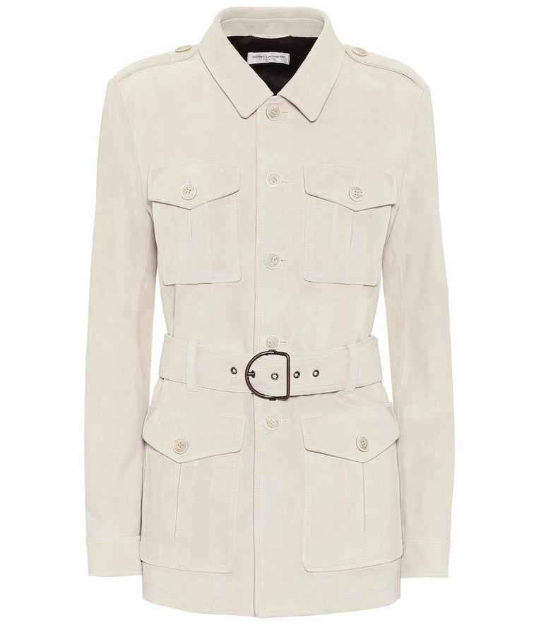 Saint Laurent Suede safari jacket in beige