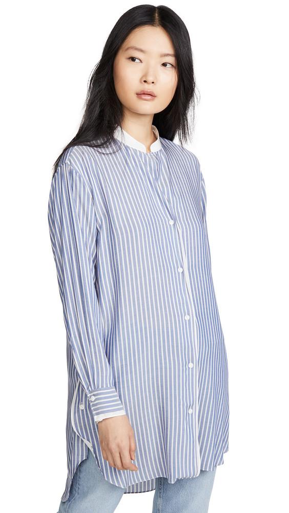 Rag & Bone Margot Striped Tunic in blue