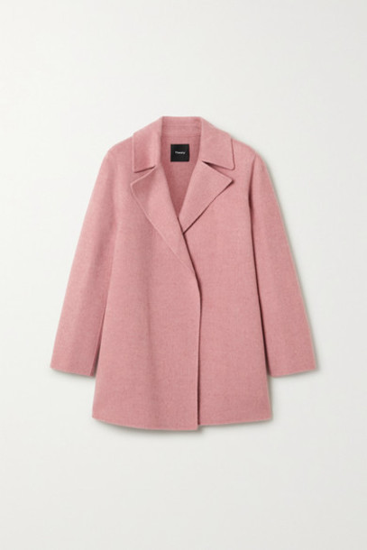 Theory - Wool And Cashmere-blend Coat - Antique rose