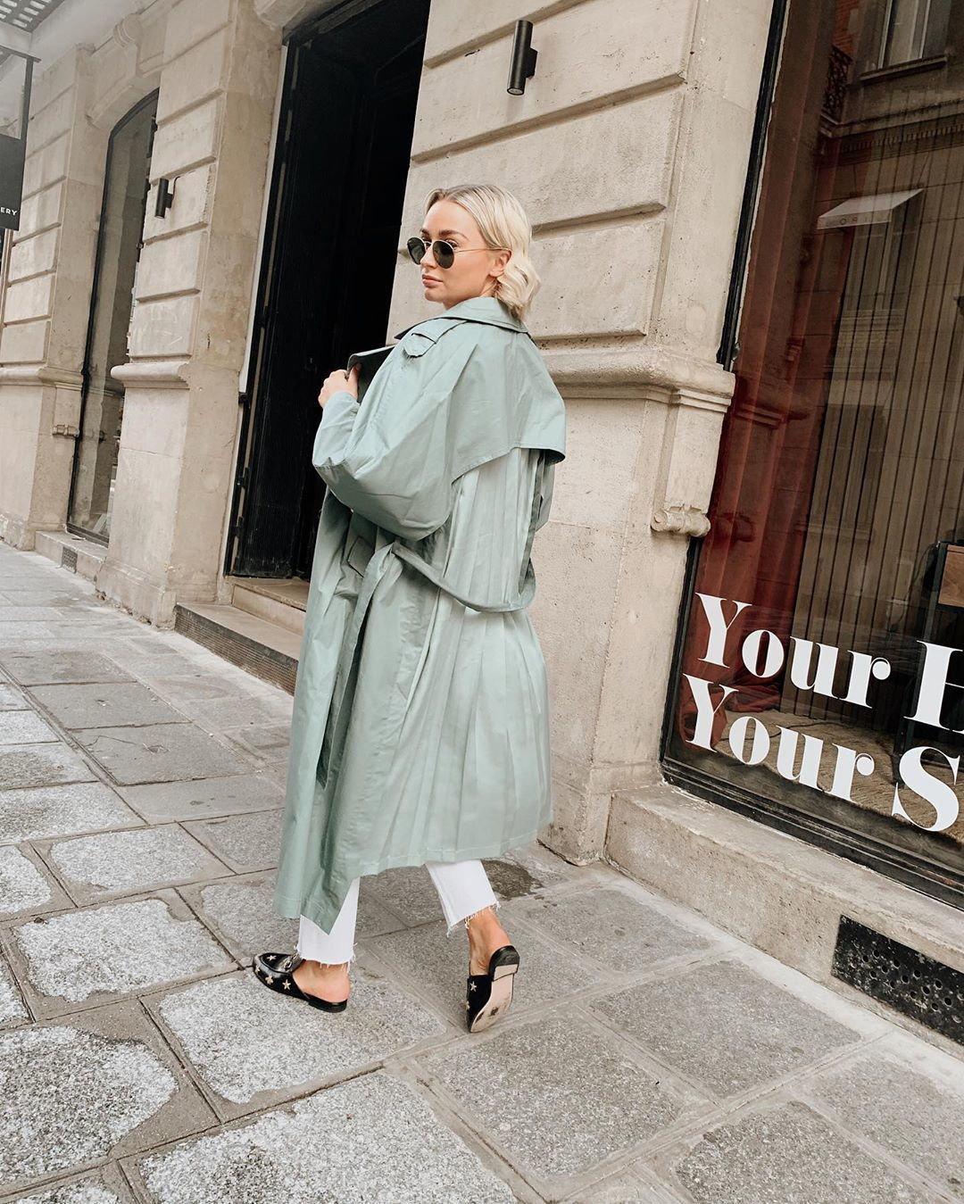 coat trench coat topshop loafers white jeans