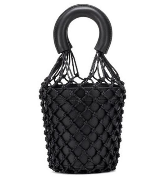 Staud Moreau leather bucket bag in black