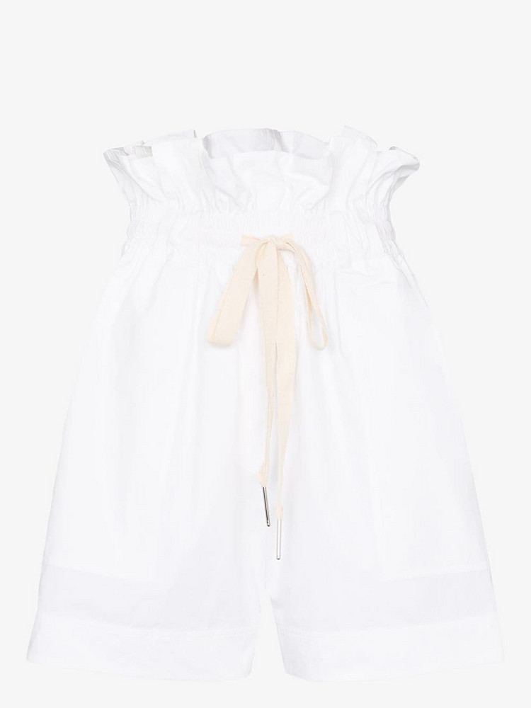 3x1 Dwight paperbag waist cotton shorts in white