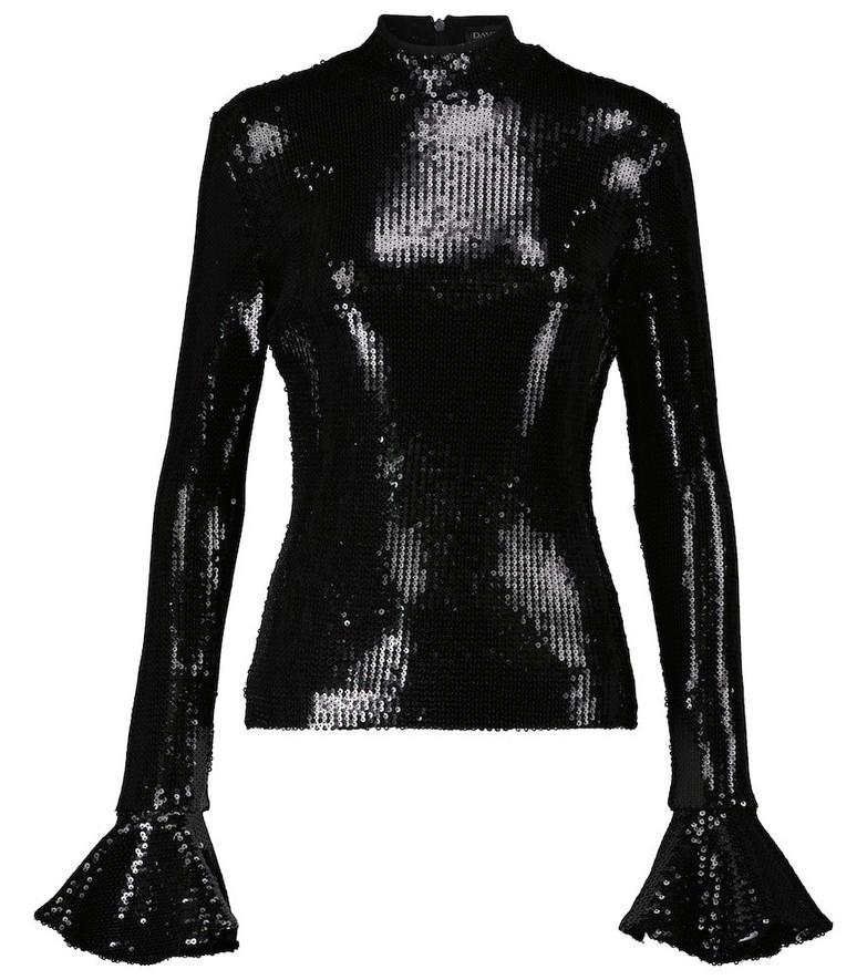 David Koma Sequined top in black