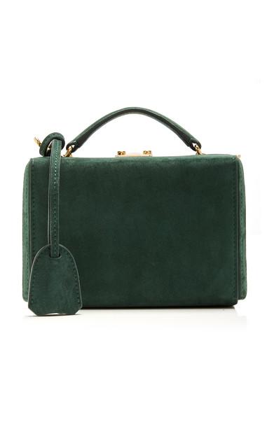 Mark Cross Grace Mini Suede Bag in green