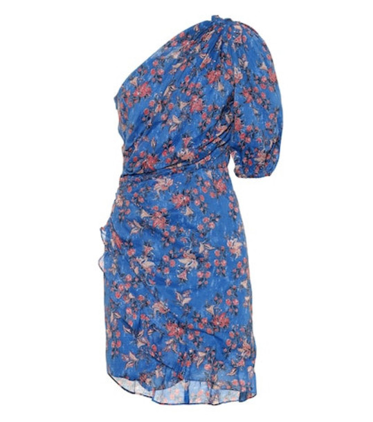 Isabel Marant, Étoile Esther floral-printed cotton dress in blue