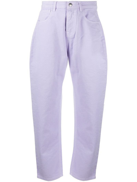 IRENEISGOOD For You embroidered jeans in purple