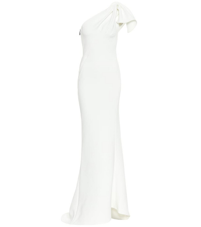 Maticevski Accompany crêpe gown in white